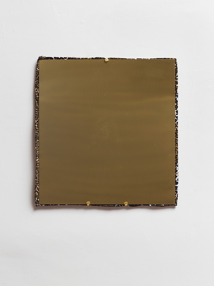 Barak Ravitz, Untitled, 2017, brass and towel, 51 x 47 cm, edition 1 of 2