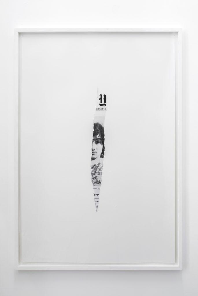 Melik Ohanian, Post-Image — 2013.05.05, 2014, Black and white photograph, 124 x 84 x 3cm (framed), 2/3