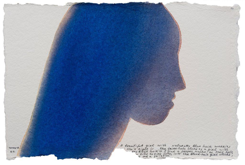 Nedko Solakov, Color Stories #79, 2016-2017, watercolour, black and white ink on paper,  19 x 28 cm, unique