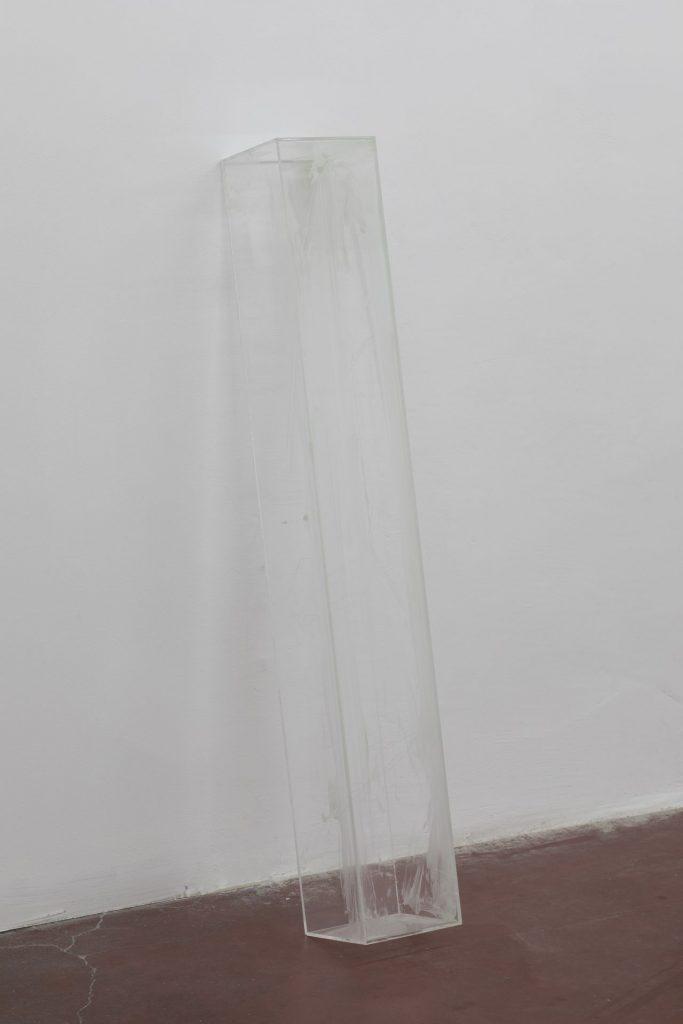 David Maljkovic, Yet to be titled, 2017, acrylic paint, plexiglas, laser engraving, 118 x 17 x 17 cm, unique