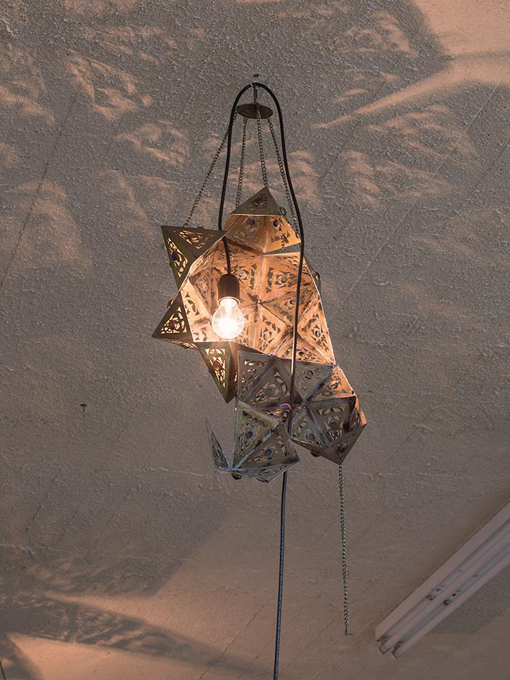Latifa Echakhch, Nova (a), 2017, antique lamp, variable dimensions, Unique