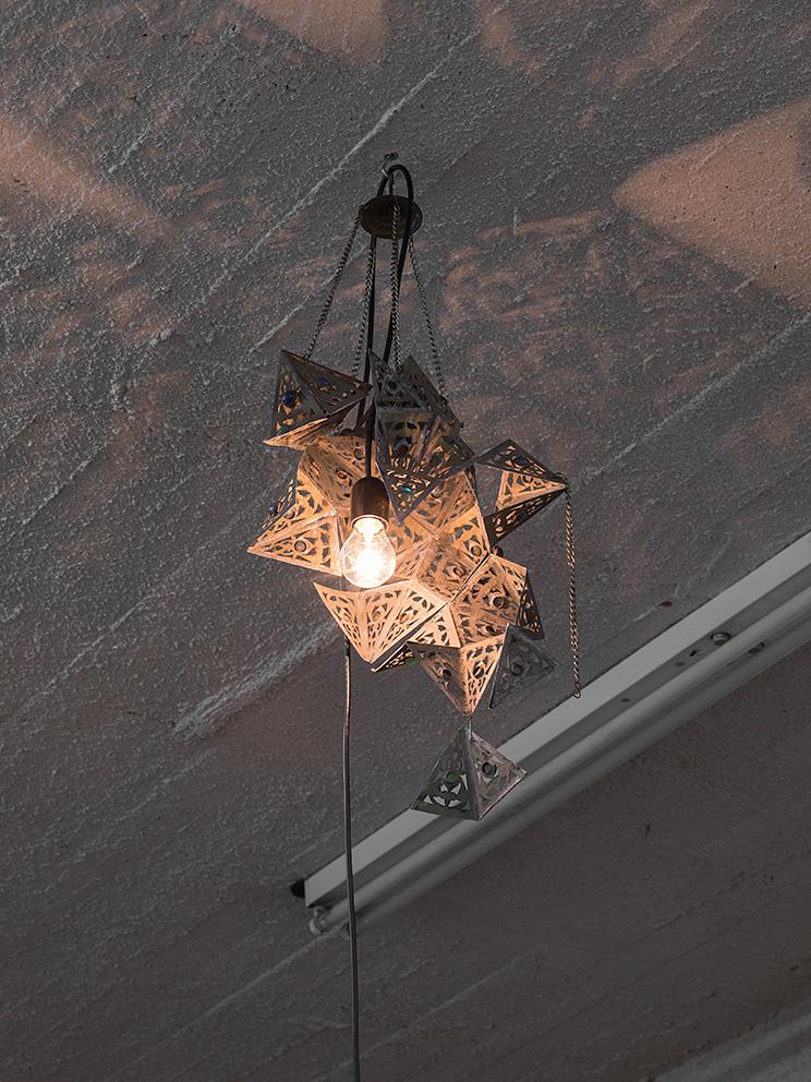 Latifa Echakhch, Nova (b), 2017, antique lamp, variable dimensions, Unique