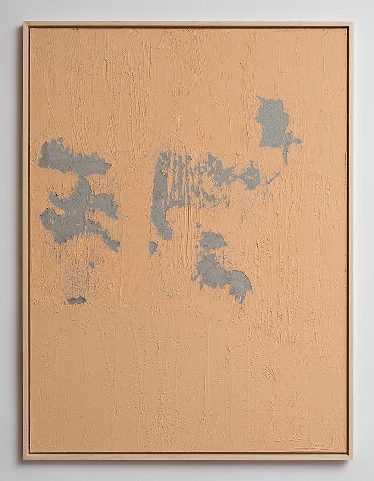 Latifa Echakhch, Nude, 2017, concrete, acrylic paint, 200 x 150 x 3 cm, unique