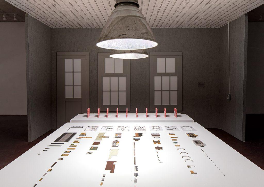 Simon Fujiwara, Anne Frank House Model, 2017, Original Anne Frank House model produced by the Anne Frank Museum, laid out as individual pieces, unique +1AP