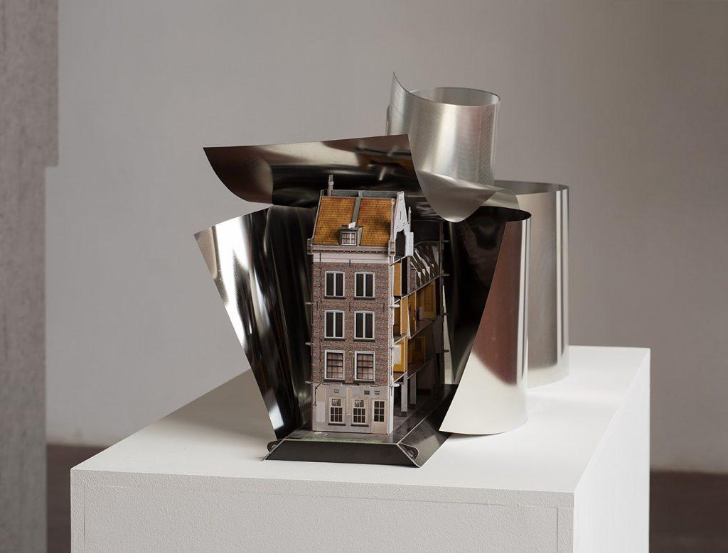 Simon Fujiwara, Untitled (Extension), 2017 (alternate view) cardboard, metal