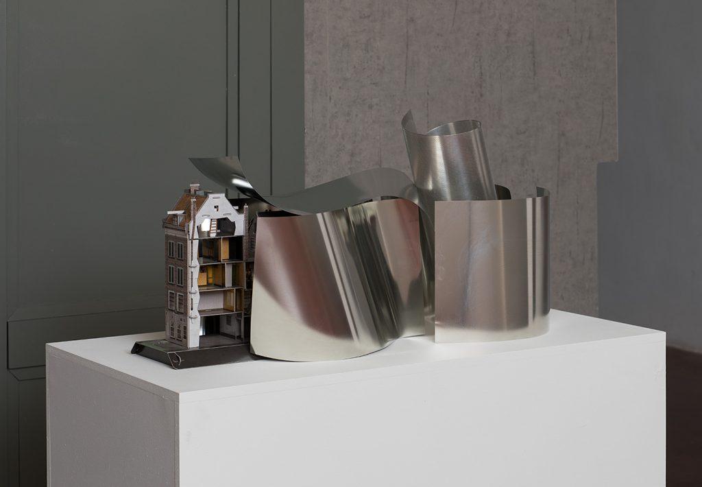 Untitled (Extension), 2017 cardboard, metal 90 x 32 x 46.5 cm 3 Versions + 1 AP