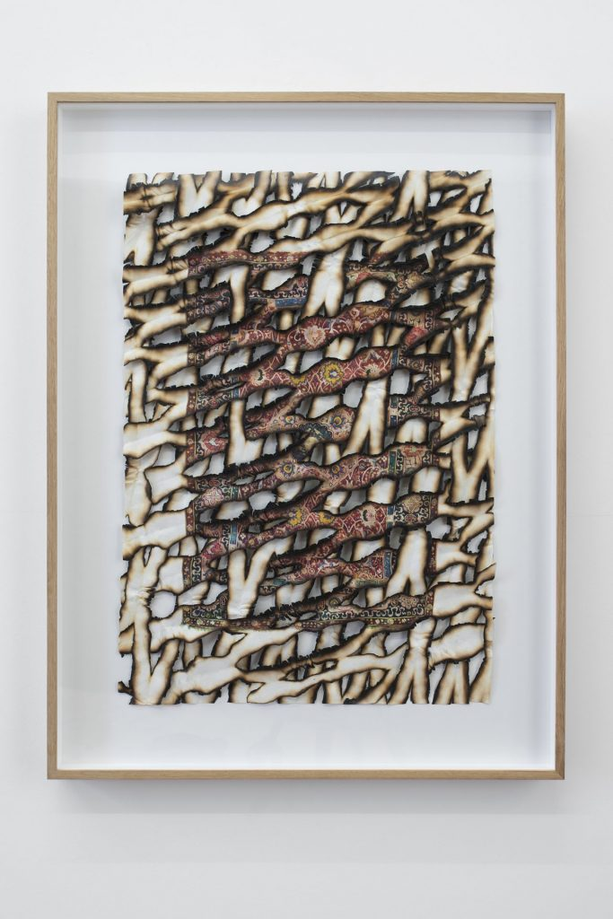 Ariel Schlesinger, Untitled (Burnt Paper), 2017, archival print, japanese paper, gesso, 80 x 106 x 7 cm, unique