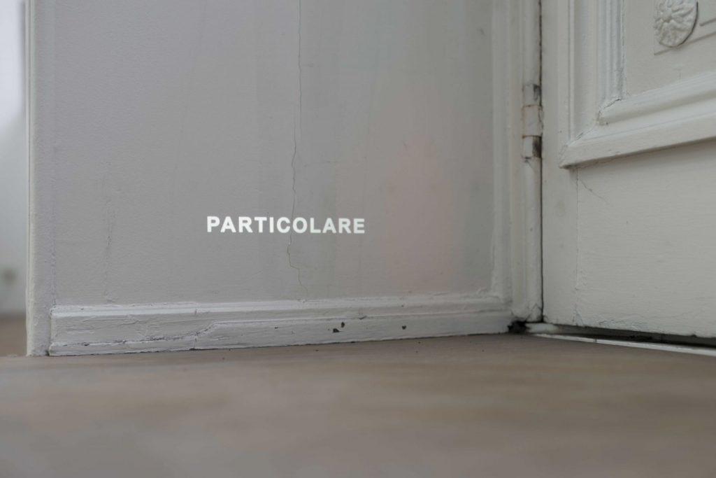 Giovanni Anselmo, Particolare, 1972 - ongoing, single slide projection, variable dimensions, unique