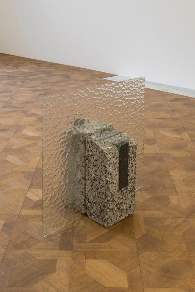 Miroslaw Balka, 60 x 60 x 27, 2018 terrazzo, granit, glass, 60 x 60 x 27 cm, unique