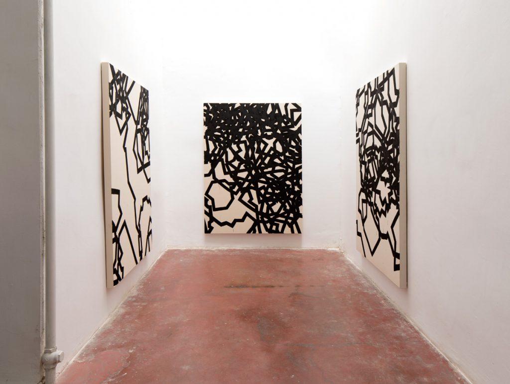 Latifa Echakhch, Derives, 2018, exhibition view, Dvir Gallery, Tel Aviv