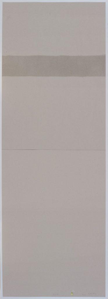 Miroslaw Balka, 13 cm AF, 2015, pencil, myrth, frankincense on cardboard, 208 x 78 x 4 cm, unique