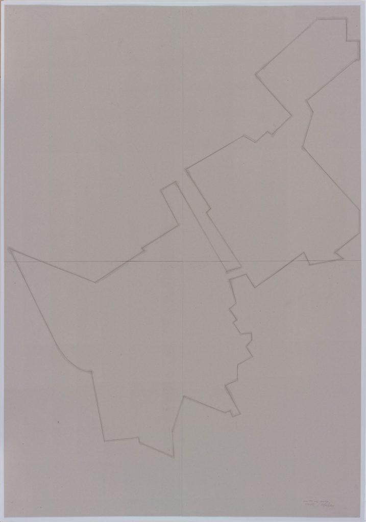 Miroslaw Balka, Otw. 1942 body. Healing, 2015, pencil, myrth on cardboard, 208 x 148 x 4 cm, unique