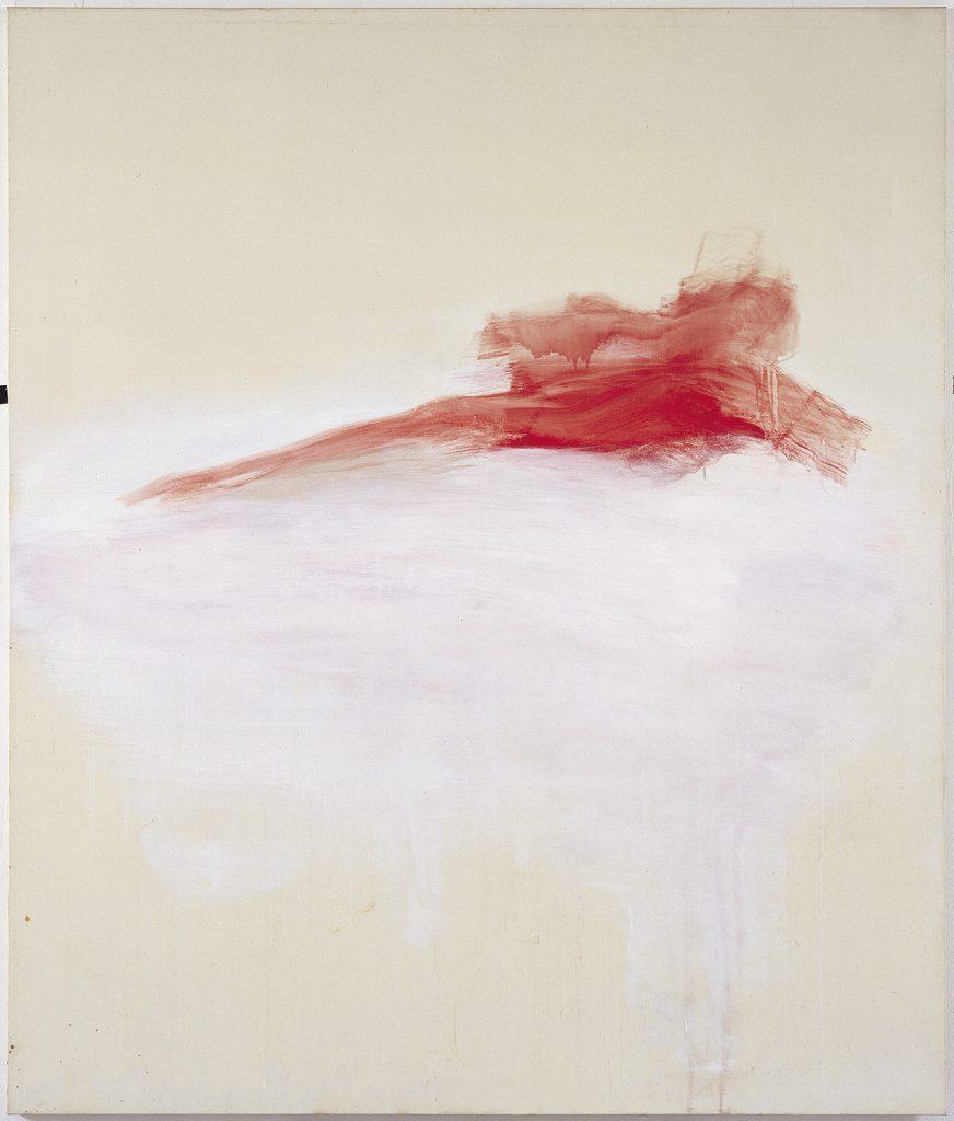 Yudith Levin , Red Pietà, 1997, acrylic on canvas, 200 × 170 cm, unique