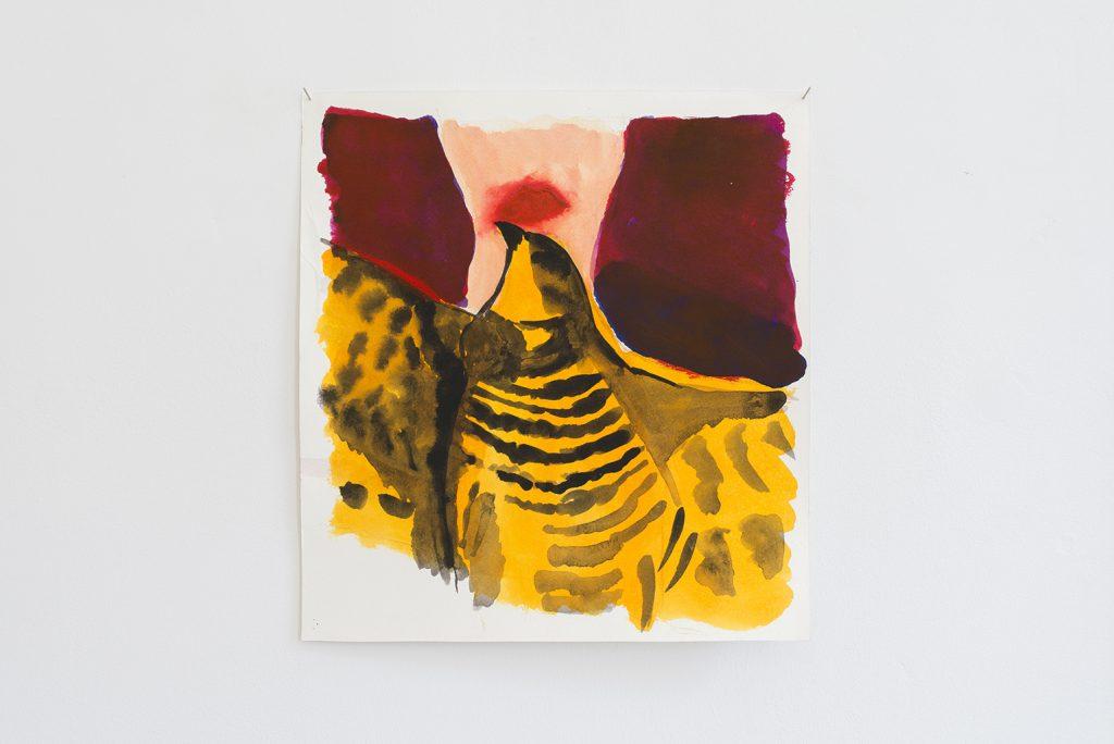 Orna Bromberg, Untitled, 2012, gouache on paper, 34.5 x 37 cm, unique