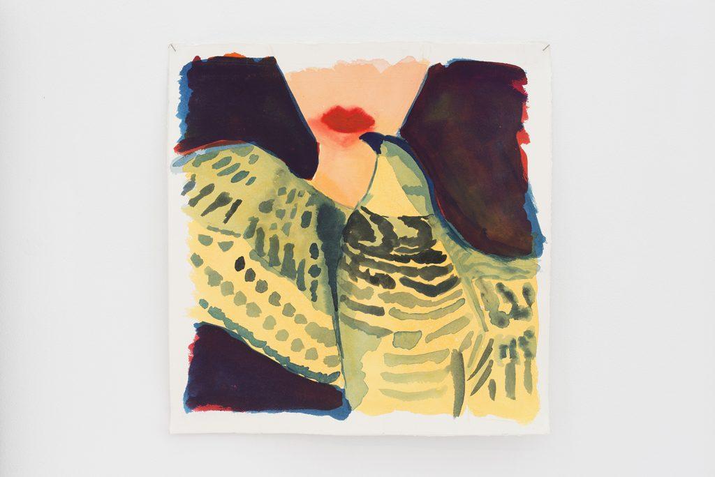 Orna Bromberg, Untitled, 2012, gouache on paper, 39.5 x 40 cm, unique
