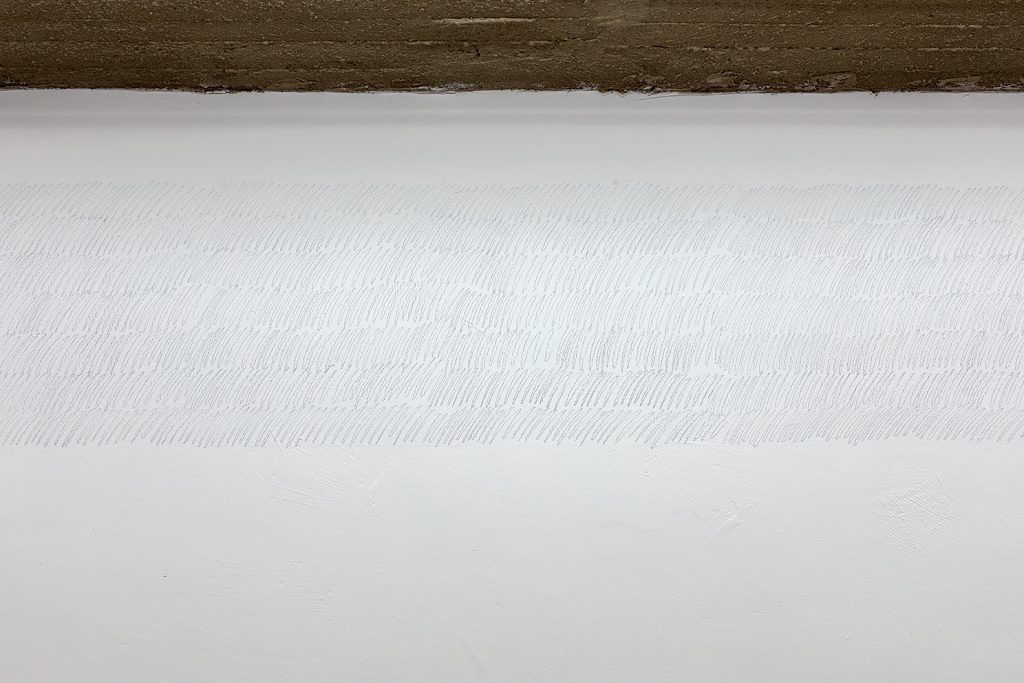 Yan Xing, As The Soldiers Went Home, The Gallery Caught Fire, 2019, 53 x 1100 cm, Graphite, performance, unique