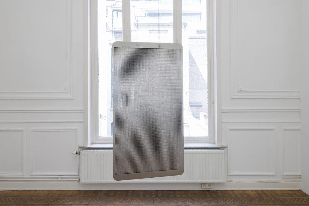 Matan Mittwoch, Full-stop Comma Closed-bracket, 2018, photochemical machining on inox sheets, 50 x 94 x 4.8 cm, edition of 2 + 1 AP