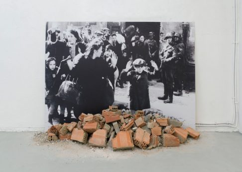 'Historic Photographs: No. 1: Liquidation of the Warsaw Ghetto, April 19-28 days, 1943', 1995-2020, black and white photograph, rubble, 150 x 211 cm