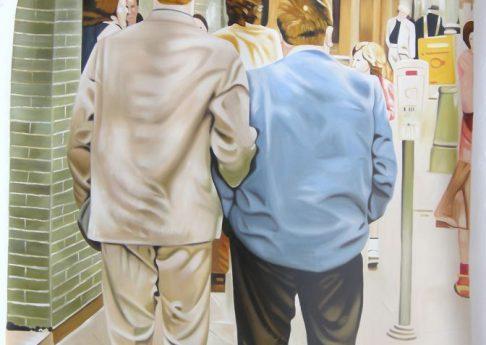 Jonathan Monk, Dear Painter, Paint Me Again and Again, 2011, acrylic on canvas, 302x201cm, unique